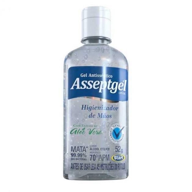 Álcool em Gel Cristal Antisséptico 52G ASSEPTGEL