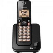 OPEN BOX - Telefone sem Fio com ID KX-TGC350LBB Preto PANASONIC