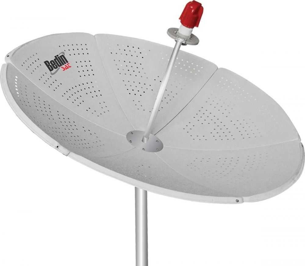 Antena Parabólica Chapa Com Bengala 1.5M Banda C/KU BEDIN SAT