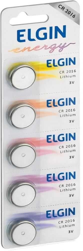 Bateria De Litio cr 2016 82191 (Com 5) ELGIN