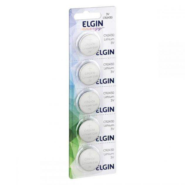 Bateria De Lítio CR2430 BLISTER 82304 (com 5) ELGIN
