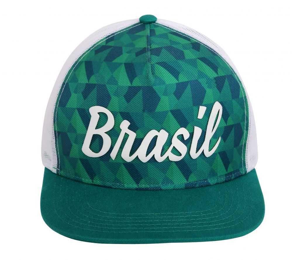 Boné Time Brasil TBR 05 Verde e Branco Oficial do Comitê Olímpico do Brasil 281bb356104
