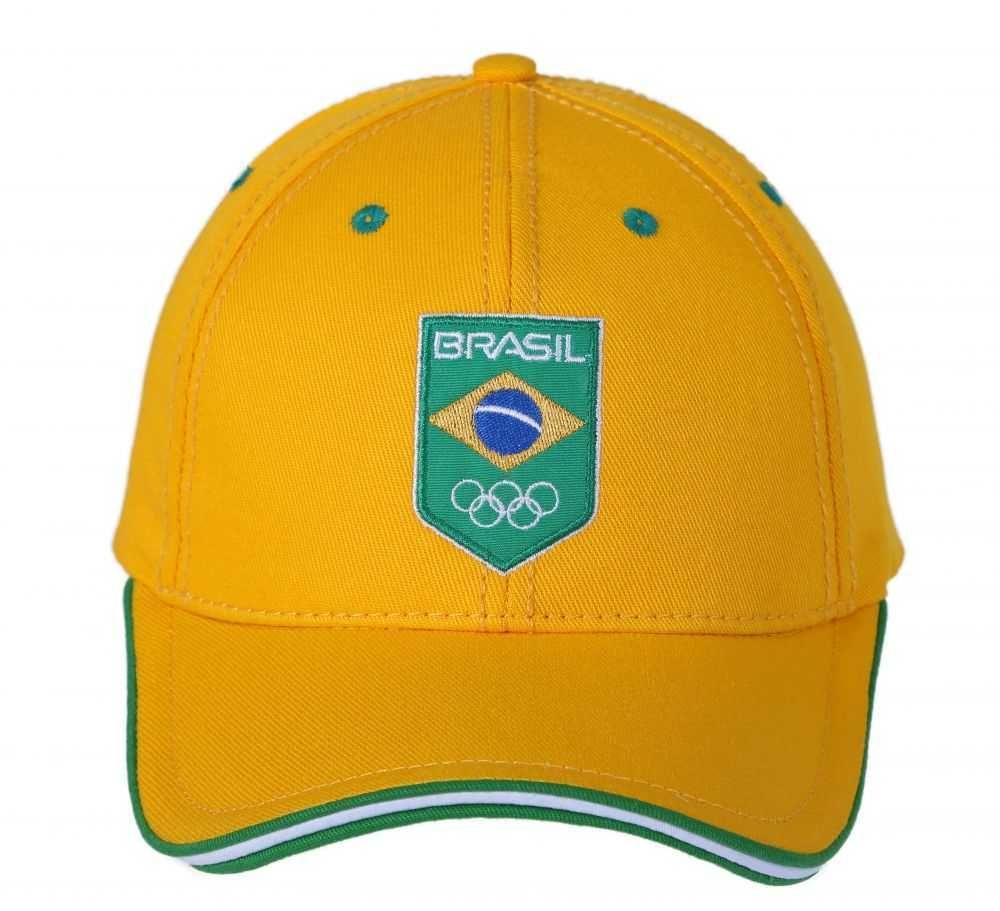 Boné Time Brasil TBR 07 Amarelo Oficial do Comitê Olímpico do Brasil ... 16369c59cde