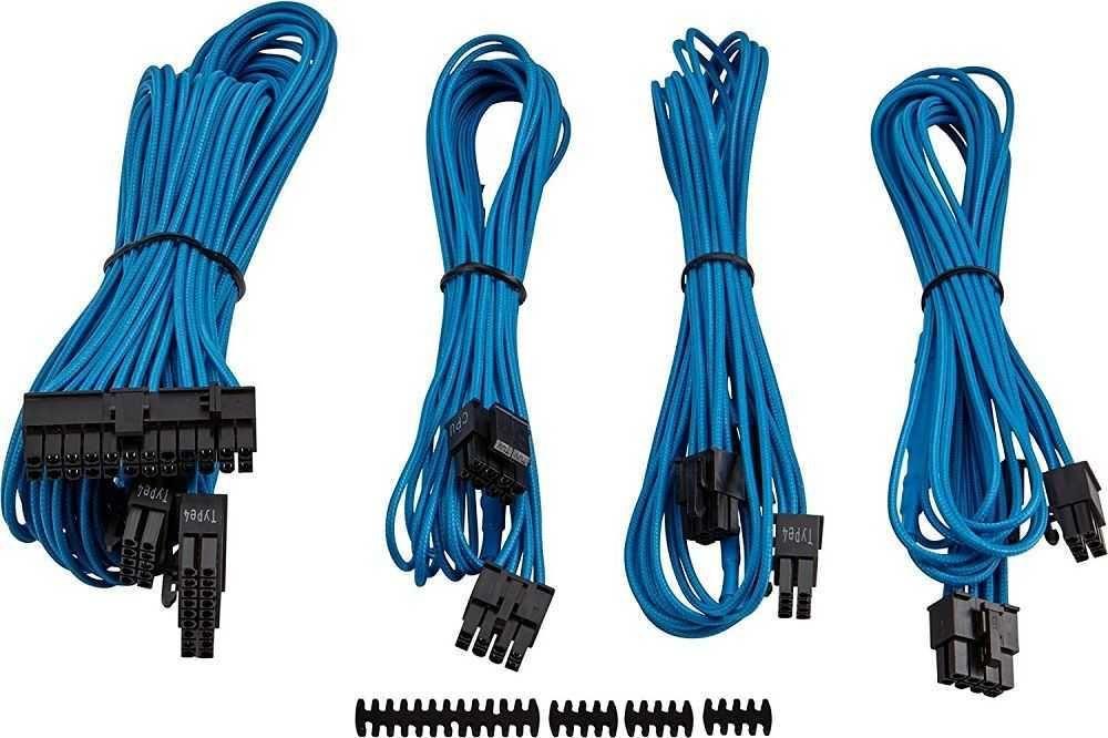 Cabo sleeved Azul para fonte CP-8920147 CORSAIR