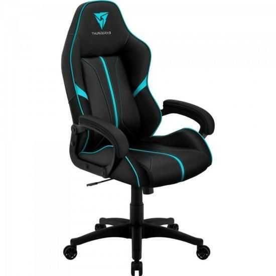 Cadeira Gamer Profissional AIR BC-1 EN61874 Preta/Ciano THUNDERX3