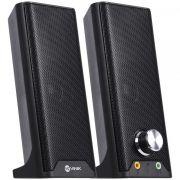 Caixa de Som 2.0 Dual Basic 6W Fone e Microfone - CXDU-BSIC VINIK