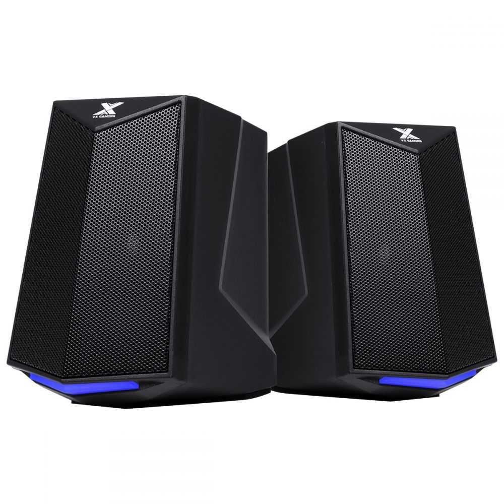 Caixa de Som Gamer 2.0 Crusade 6W Led Azul - CXGCR6W VINIK