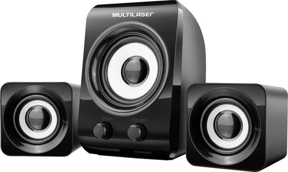 Caixa de Som Multimídia 2.1 8W+3W rms Preta SP172 MULTILASER