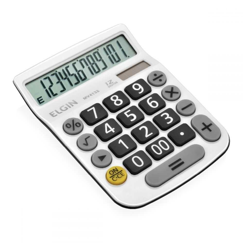 Calculadora De Mesa 12 Dígitos MV4132 Branca ELGIN