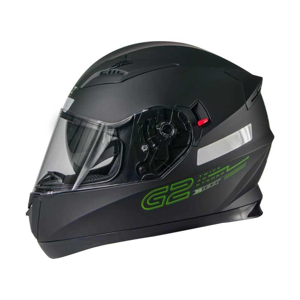 Capacete G2 Solido Preto/Verde 61 TEXX