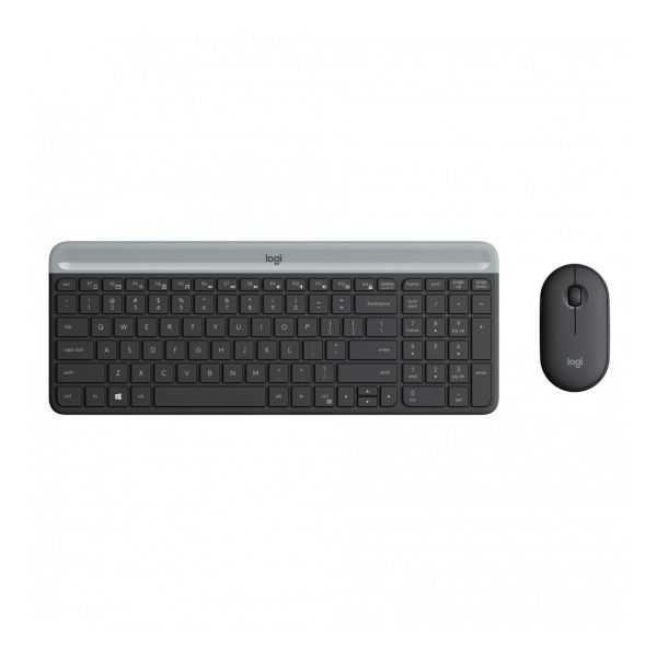 Combo Teclado + Mouse MK470 Slim Sem fio USB Preto 920-009268 LOGITECH