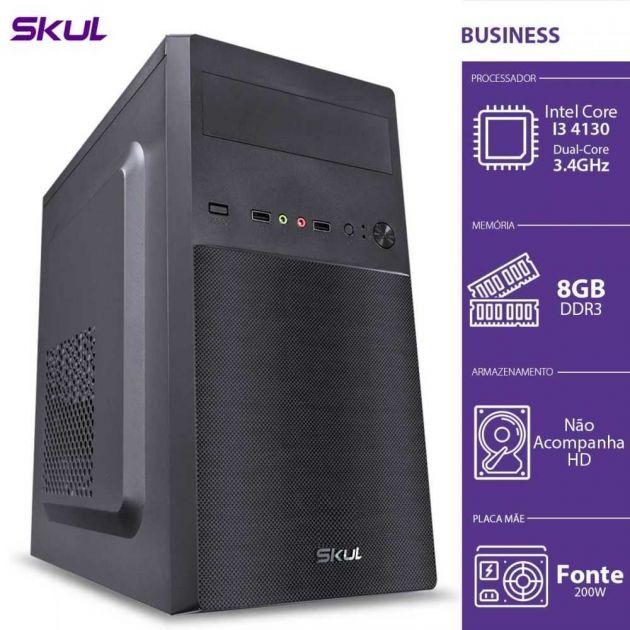 Computador BUSINESS B300 i3 3.4GHZ 8GB DDR3 Sem HD Fonte 200W B41308 SKUL
