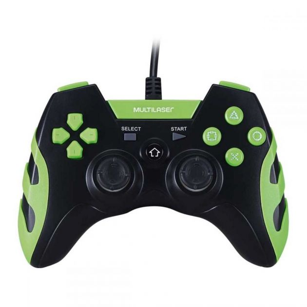 Controle GAMER Para PS3 e PC Preto e Verde JS091 MULTILASER