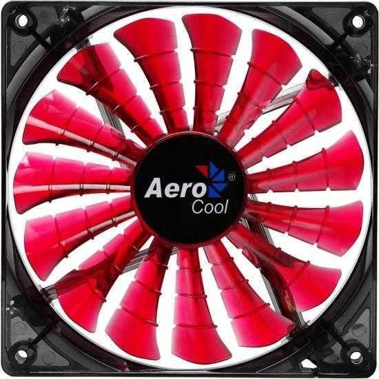 Cooler Fan 12cm SHARK DEVIL RED EDITION EN55437 Vermelho AEROCOOL