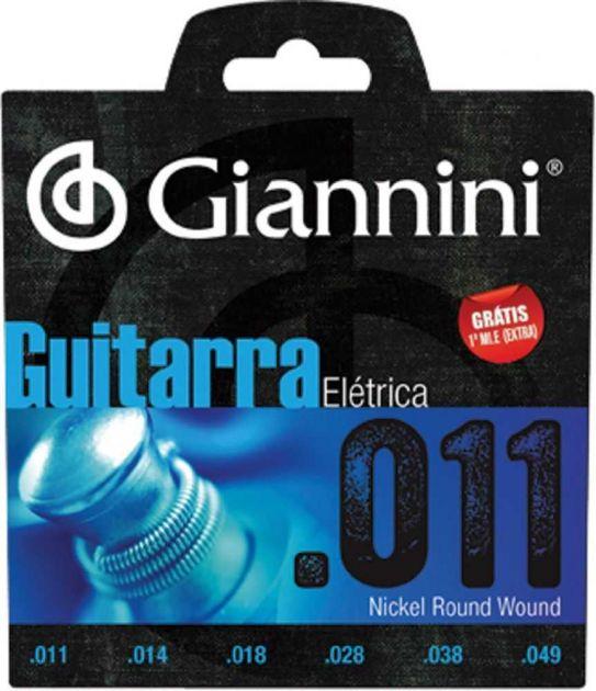 Encordoamento Para Guitarra 0.11 GEEGST 11 GIANNINI