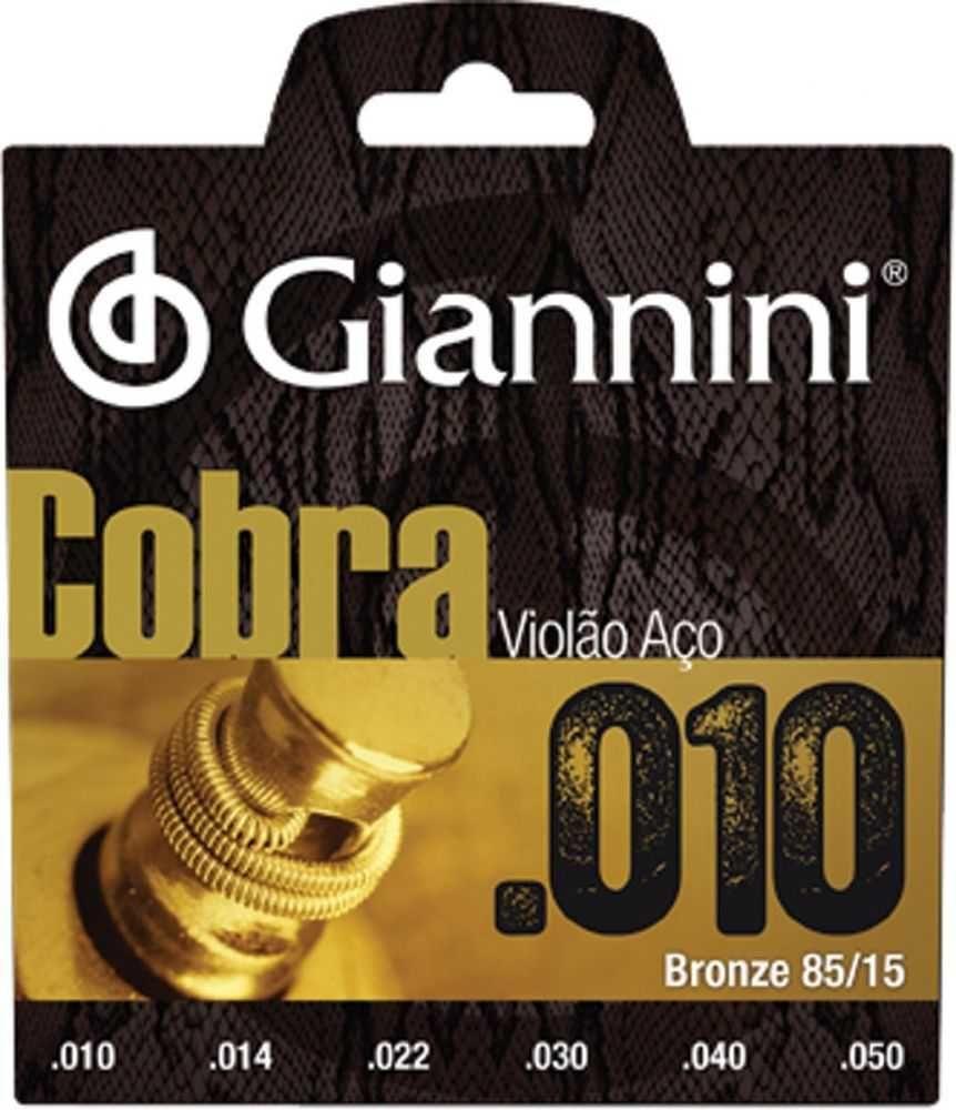 Encordoamento P/ Violão Aço Cobra Bronze .010 GEEFLE GIANNINI