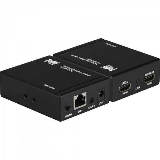 Extensor e Divisor HDMI 60m c/ Sensor IR Preto BEDINSAT