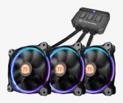 Fan Riing Com 3 Unidades 12cm RGB 256 Colors Switch CL-F042-PL12SW-B THERMALTAKE