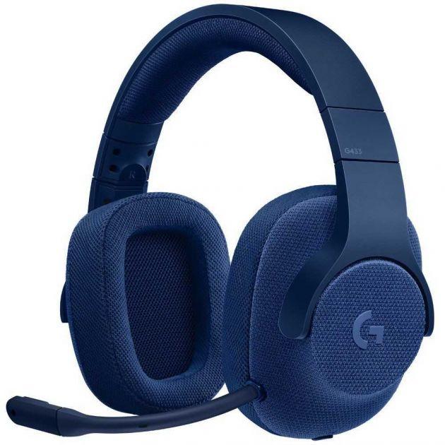 Fone de Ouvido Surround 7.1 G433 Azul 981-000684 LOGITECH