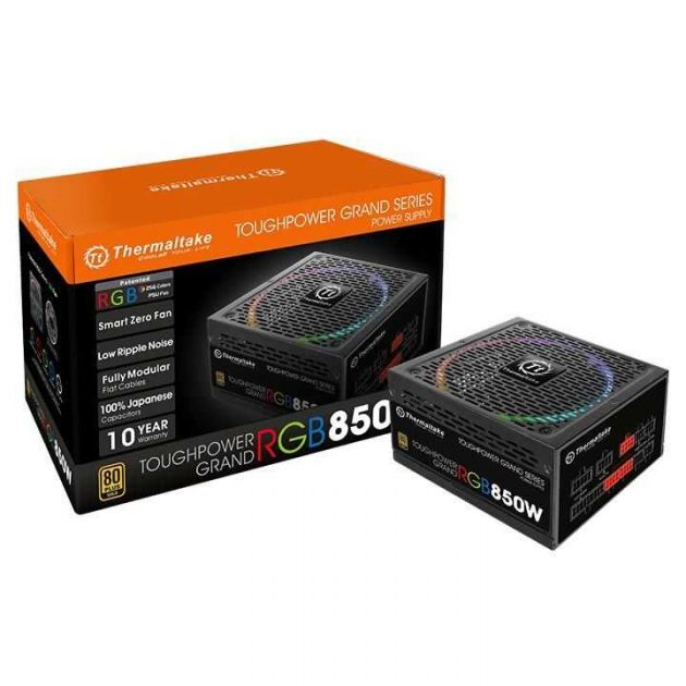 Fonte ATX 850W Toughpower Grand RGB Full Modular Gold PS-TPG-0850FPCGBZ-R THERMALTAKE