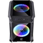 Gabinete Alpha RGB Mini Tower Vidro Temperado ALPTRGB2FCV PCYES