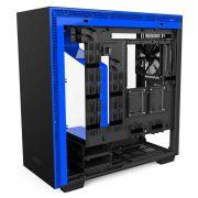 Gabinete H700I Matte Black/Blue RGB TG CA-H700W-BL NZXT