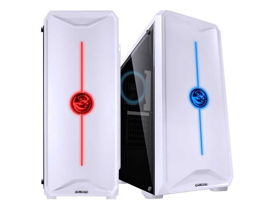 Gabinete NOVA RGB 7 Cores ATX NOVBC7C1FCA Branco PCYES