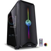 Gabinete Nova Plus Full RGB ATX NOVPTRGB3FCA Preto PCYES