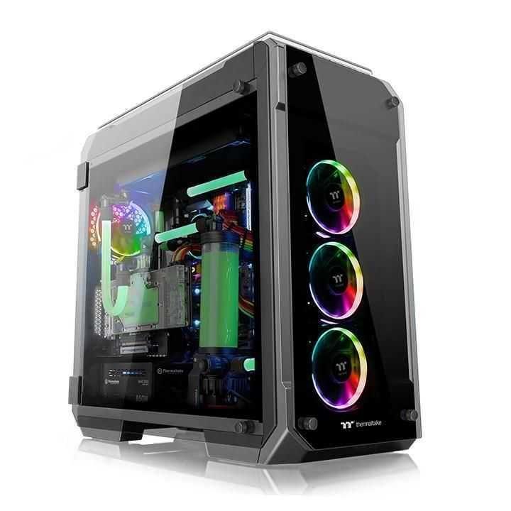 Gabinete View 71 Tempered Glass RGB Edition Preto CA-1I7-00F1WN-01 THERMALTAKE