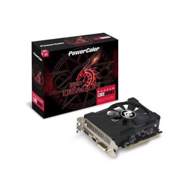 Placa de Vídeo AMD Radeon RX 550 Red Dragon 4GB GDDR5 PCI-E 3.0 4GBD5-DHA/OC POWERCOLOR