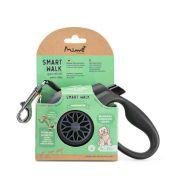 Guia Retrátil para Cães Smart Walk M Preta 5m Até 25kg PP038 MIMO
