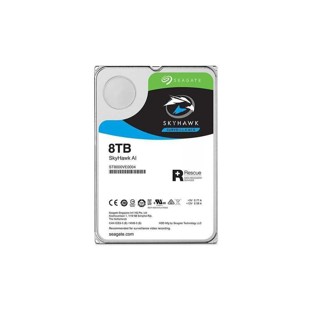 HDD 3,5 SISTEMA SEGURANCA SKYHAWK AI ST8000VE0004 8TB SEAGATE