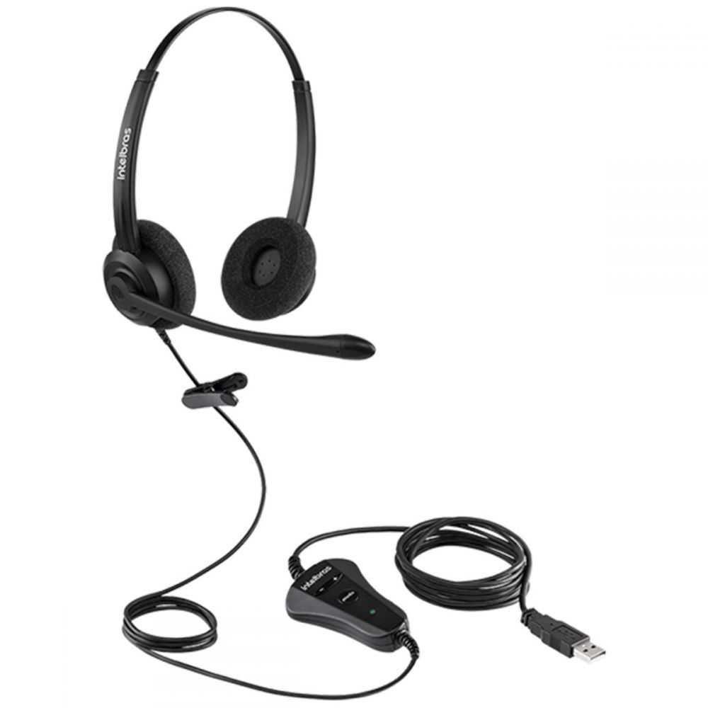 Headset Biauricular CHS 60B USB INTELBRAS