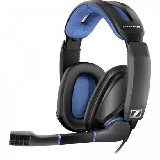 Headset Gamer GSP300 Preto e Azul SENNHEISER