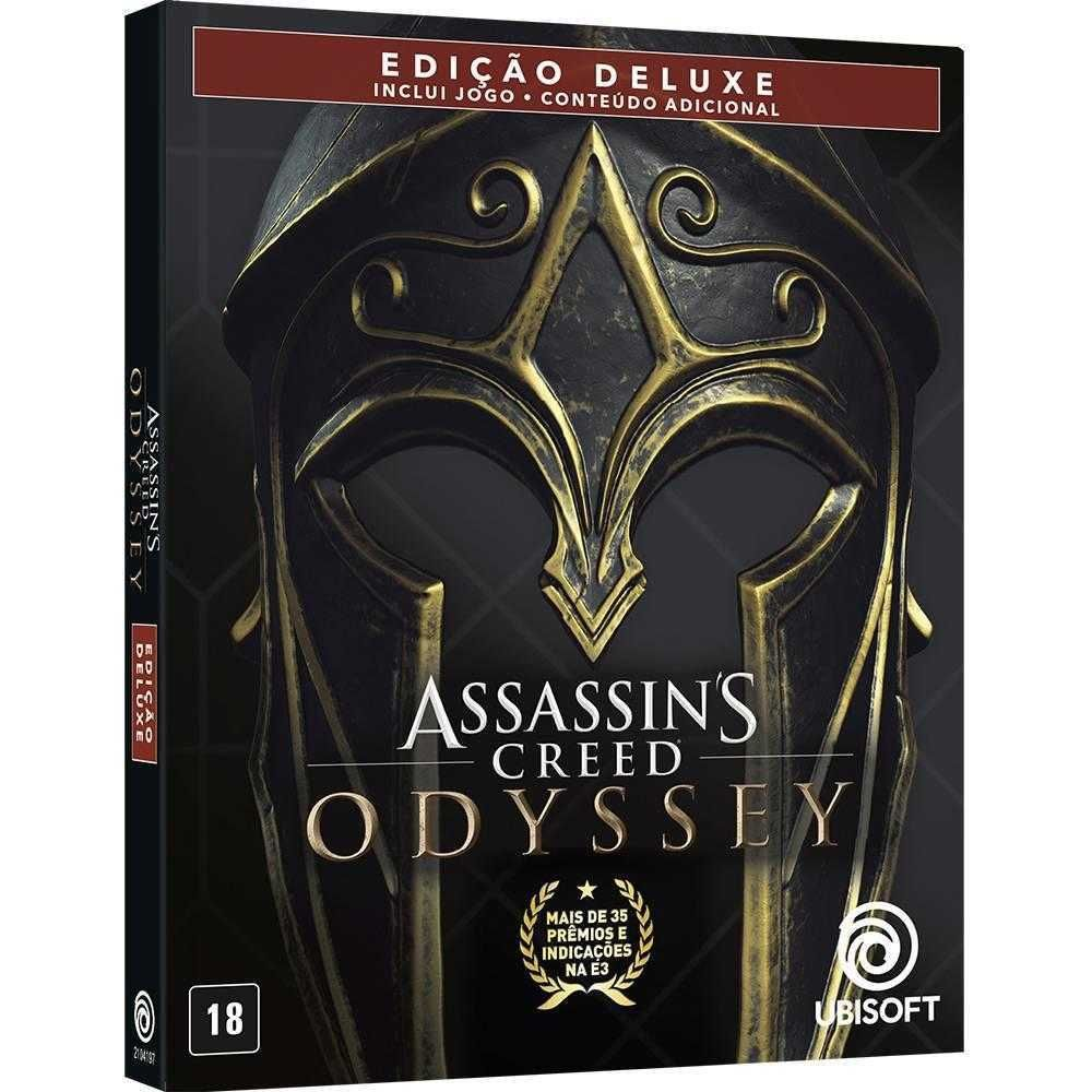 Jogo Assassins Creed Odyssey Ed. Deluxe para PlayStation 4 UBS2022AN