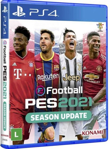 Jogo PES 2021 PS4 Blu-ray p/Playstation 4 KO000006PS4 KONAMI