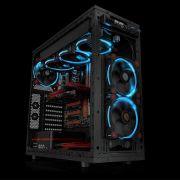 Kit 3 Coolers Riing 12 LED Blue 12cm Preto e Azul CL-F055-PL12BU-A THERMALTAKE