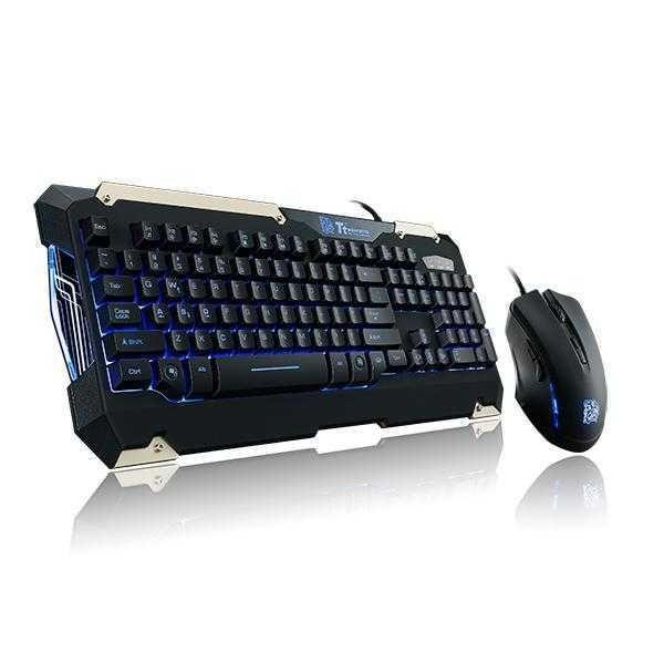 Kit Teclado+Mouse Óptico Commander Combo USB 2400dpi KB-CMC-PLBLPB-01 THERMALTAKE