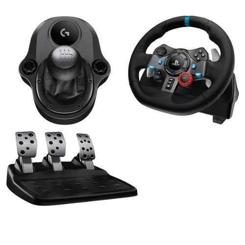 Kit Volante G29 e Câmbio Driving Force para PS3, PS4 e PC LOGITECH