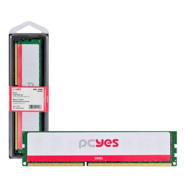 Memória RAM DDR3 UDIMM 8GB 1600MHz PM081600D3 PCYES