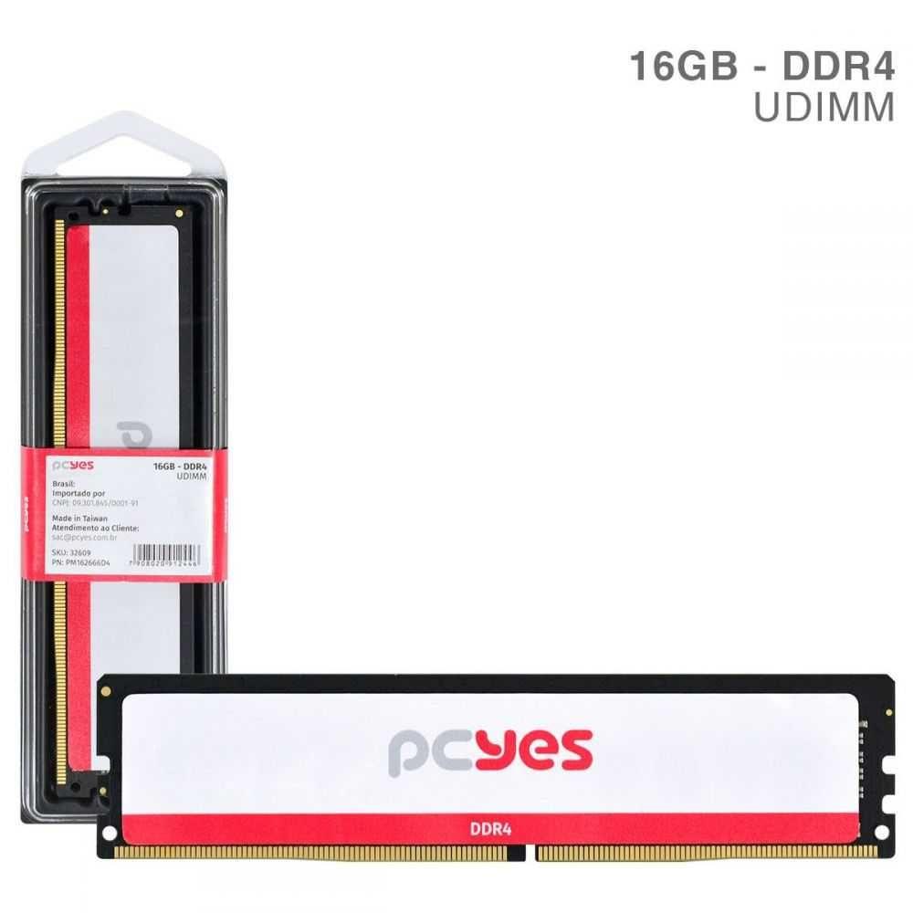 Memória RAM DDR4 UDIMM 16GB 2666MHz PM162666D4 PCYES