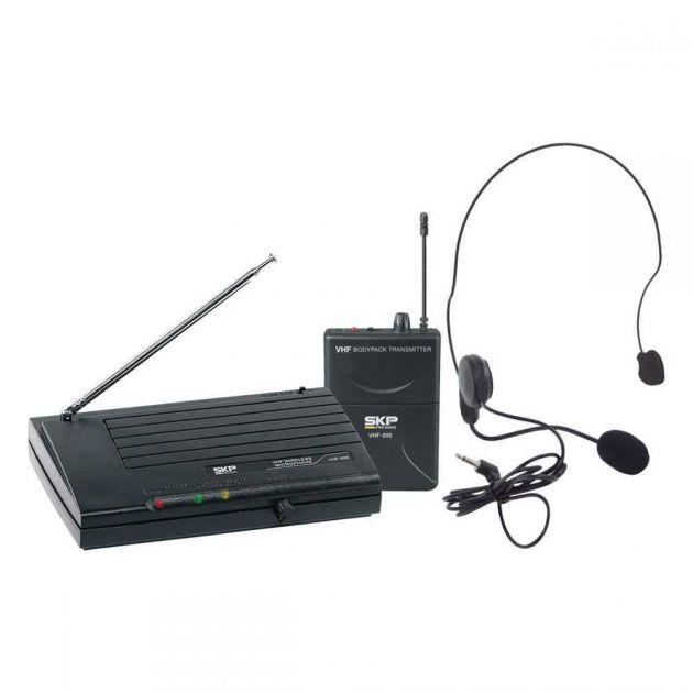 Microfone Sem Fio Headset VHF895 SKP