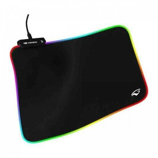 Mouse Pad com RGB MP-G2100BK Preto C3TECH