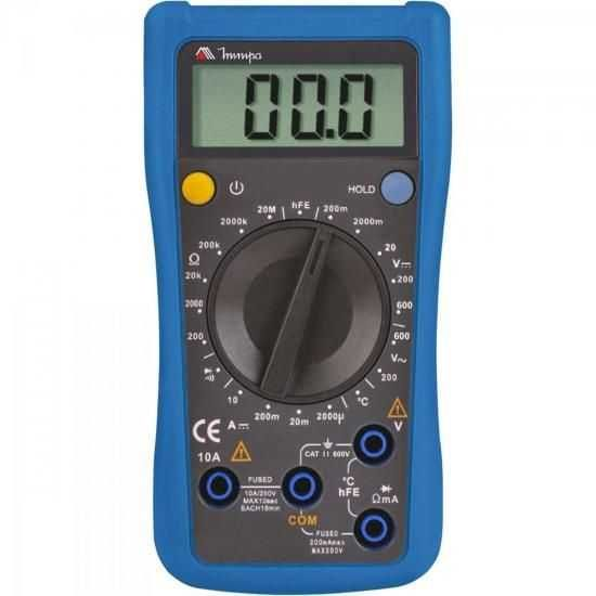 Multímetro Digital ET-1110A Azul MINIPA