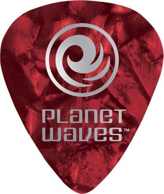 Palheta Para Guitarra de Celuloide Vermelho Pérola Leve (Com 10 Unidades) PLANET WAVES