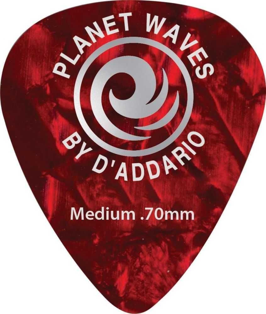 Palheta Para Guitarra de Celuloide Vermelho Pérola Média (Com 10 Unidades) PLANET WAVES