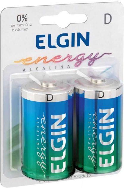 Pilha D Alcalina (com 2) 82157 1.5 Volts ELGIN