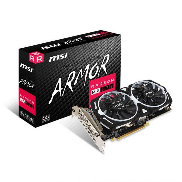 Placa de Vídeo AMD Radeon RX 570 ARMOR 8GB GDDR5 912-V341-236 MSI