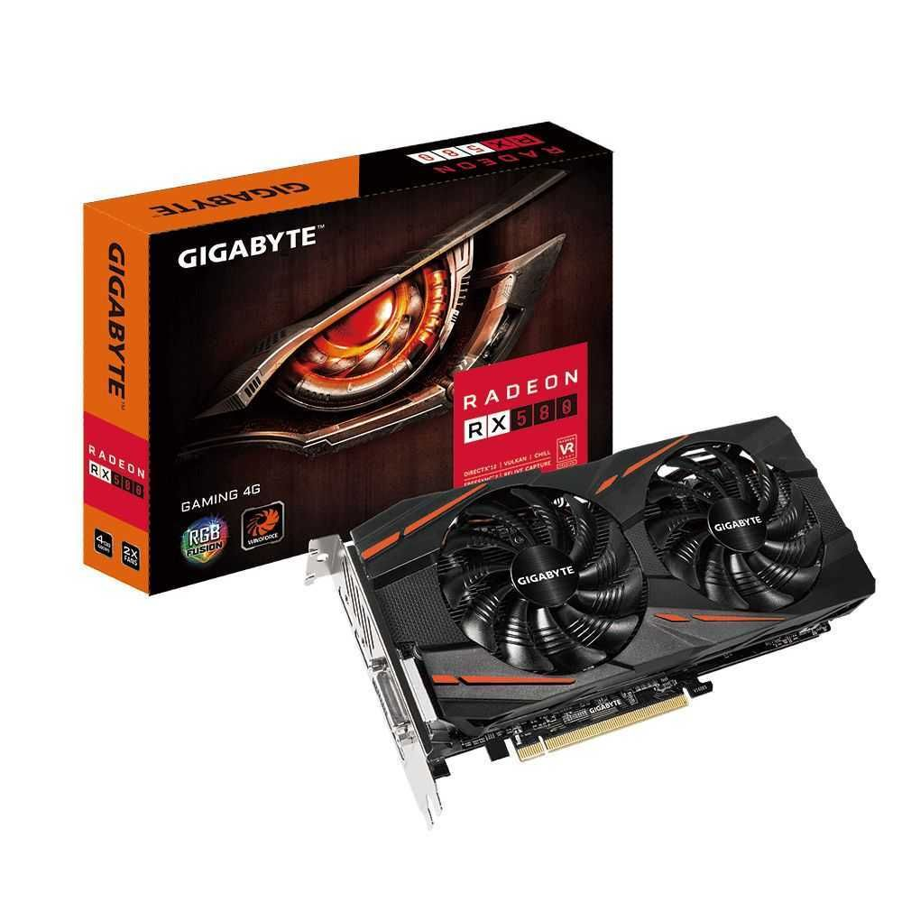 Placa de Vídeo AMD Radeon RX 580 Gaming 4GB GDDR5 GV-RX580GAMING-4GD GIGABYTE