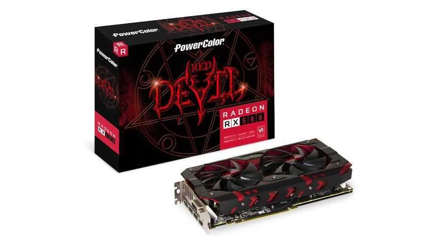 Placa de Vídeo AMD Radeon RX 580 Red Devil 8GB GDDR5 AXRX 580 8GBD5-3DH/OC POWERCOLOR